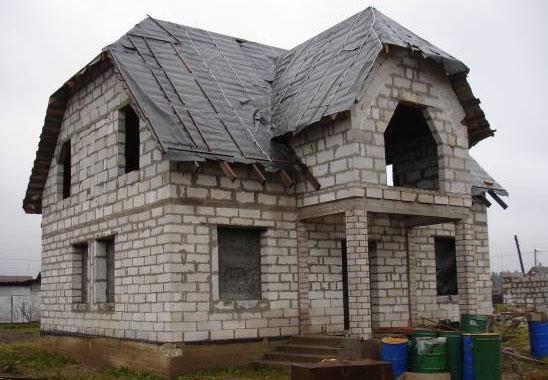 Дома построенные из пеноблоков