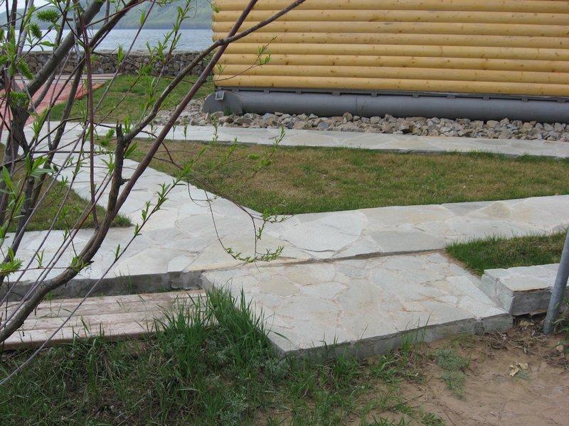 Бетонные дорожки на даче фото