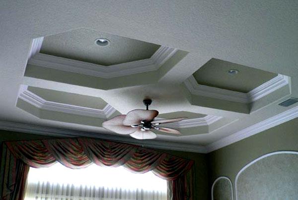 Узоры потолков из гипсокартона фото